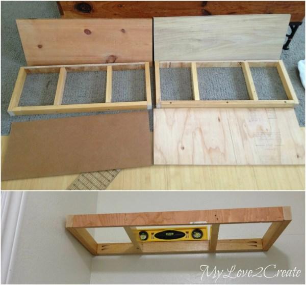 floating shelves frames for master closet, My Love 2 Create on Remodelaholic