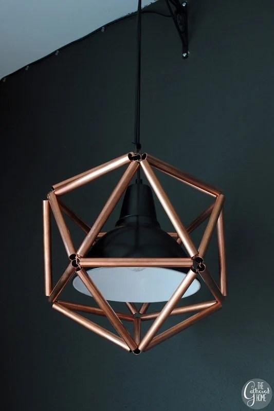 Remodelaholic | DIY Geometric Copper Pipe Pendant Light