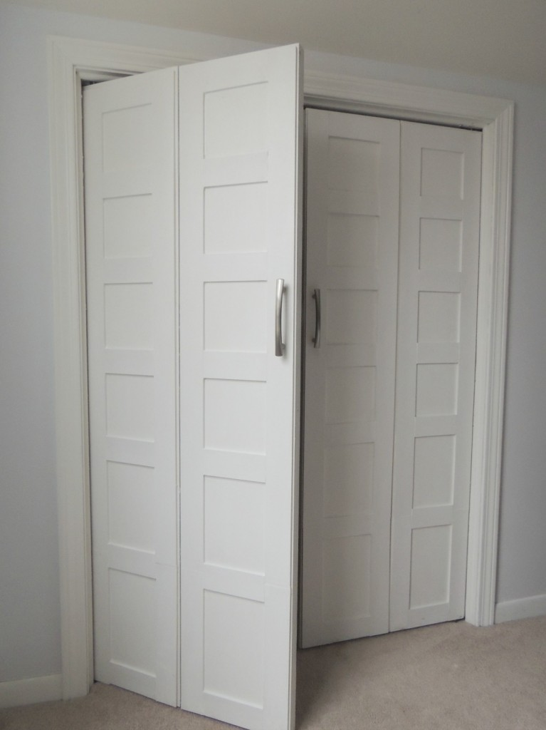 the best attitude 81c44 2799a Remodelaholic | Bi-fold to Paneled French Door Closet Makeover
