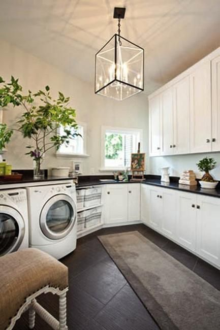 large open laundry space