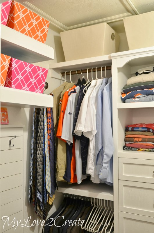 master closet makeover hanging area, My Love 2 Create on Remodelaholic