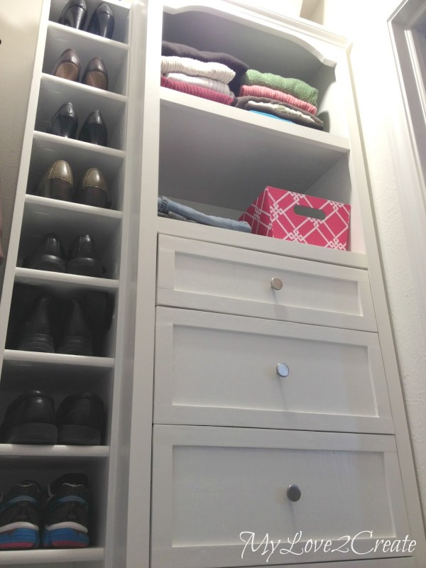 master closet shoe shelves, My Love 2 Create on Remodelaholic
