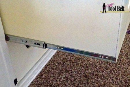 media center building plans - finishing and drawer slides, Her Tool Belt on Remodelaholic