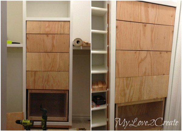 nailed on drawer faces for master closet dresser, My Love 2 Create on Remodelaholic