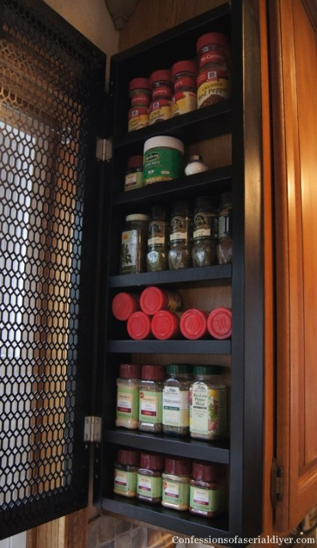 side of cabinet spice rack | Confessions of a Serial DIYer on Remodelaholic.com