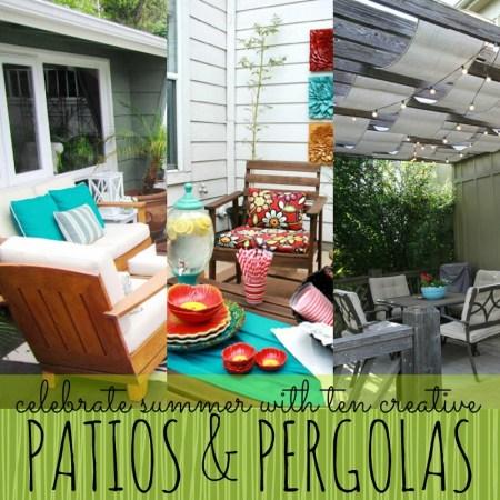 10 creative patios and pergolas
