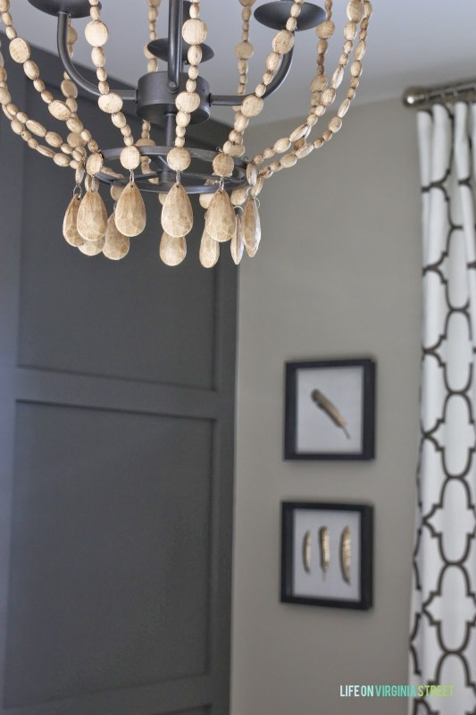 wooden bead chandelier makeover, Life on Virginia Street on Remodelaholic