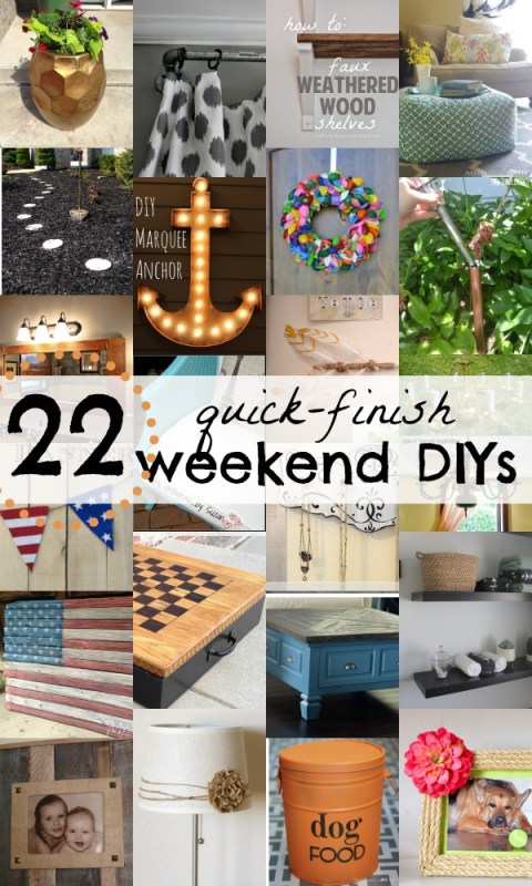 22 DIY Projects You Can Start and Finish This Weekend via Remodelaholic.com