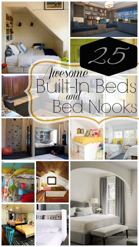 25 Awesome Built-In Beds and Bed Nooks | @Remodelaholic #bed #bedroom #nook #renovate #guest #kids