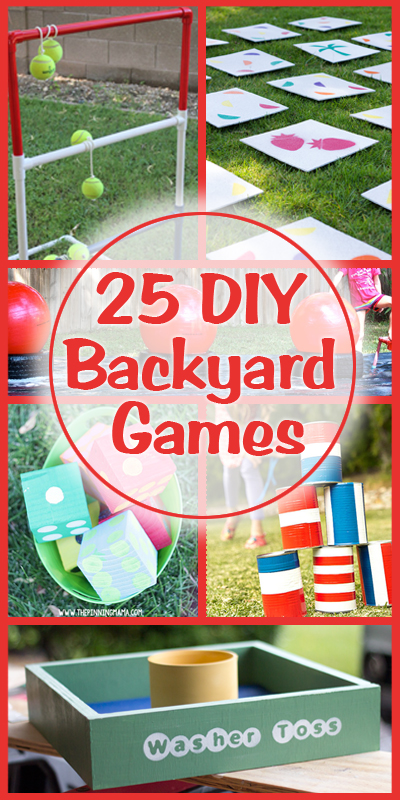 25 DIY Backyard Games On Remodelaholic.com #summer #fun #play