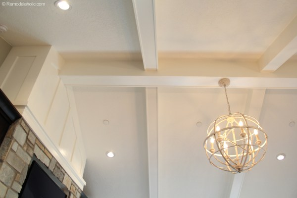 Living Room Ceiling Beams and Light