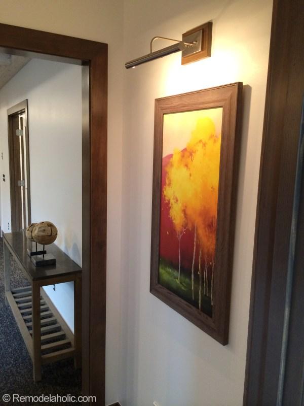 Small Hallway art and light