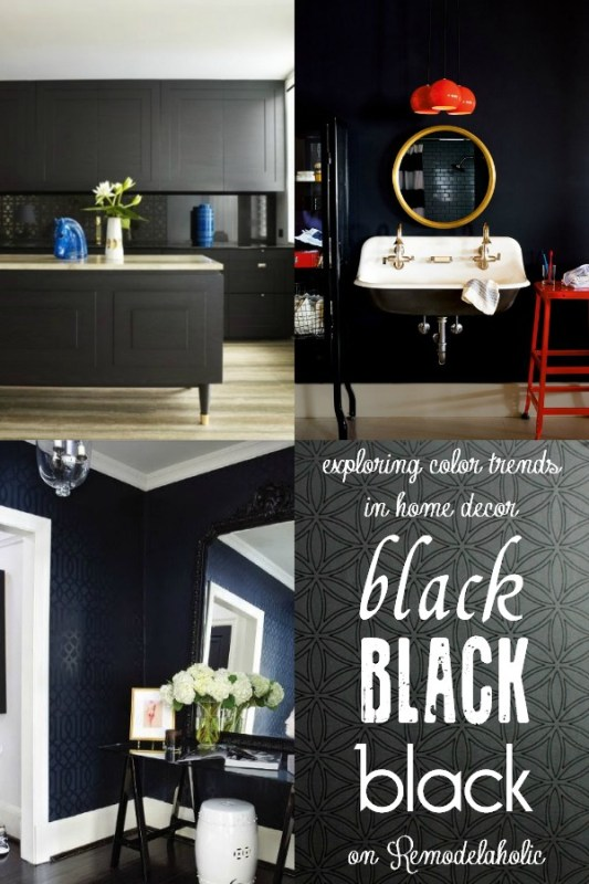 BLACK Trends in Home Decor via Remodelaholic.com #colorfiles #black