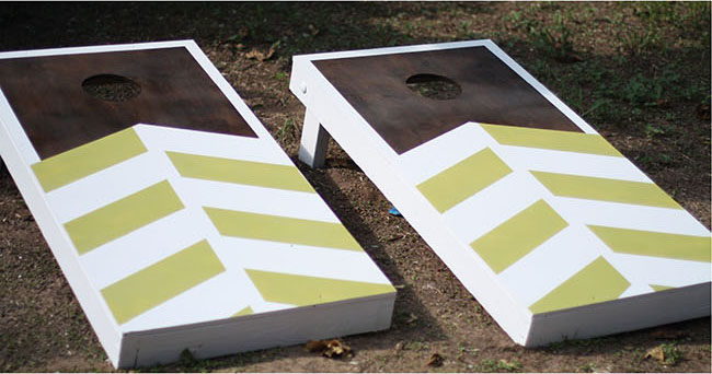 DIY Chevron Cornhole DIY
