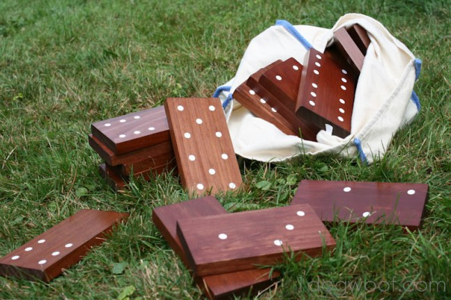 DIY Yard dominoes