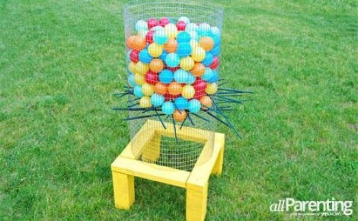DIY back yard ker-plunk game