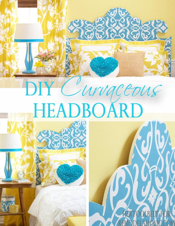 DIY curvaceous headboard pattern @Remodelaholic #headboard #diyproject