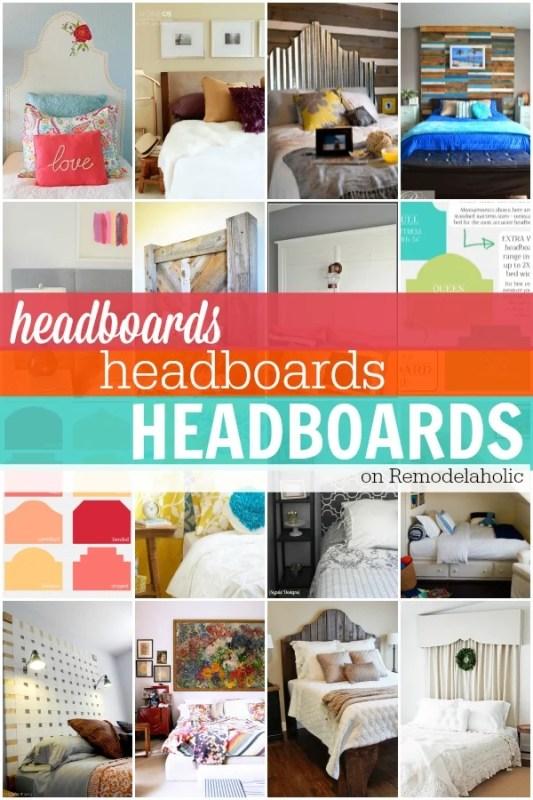 TONS of DIY headboards + tutorials! Remodelaholic.com