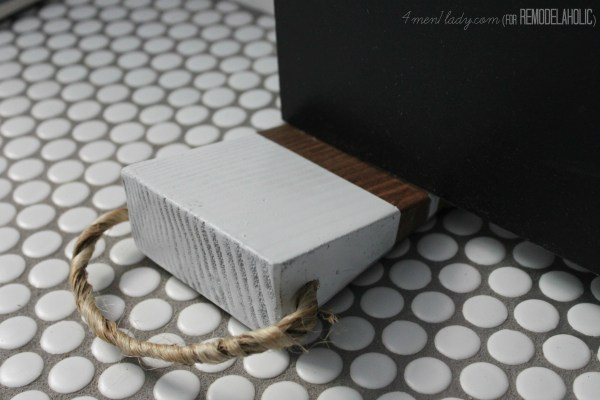 diy doorstop 4men1lady for Remodelaholic.com