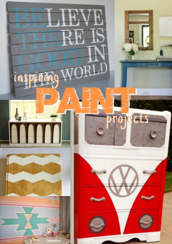 Inspiring Paint Projects via Remodelaholic.com