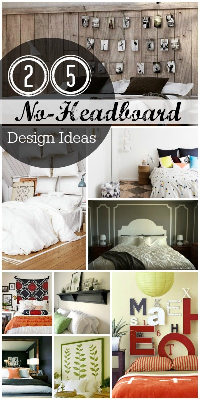No Headboard Decorating Ideas