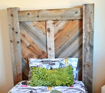 Rustic Chevron Twin Headboard Building Plans
