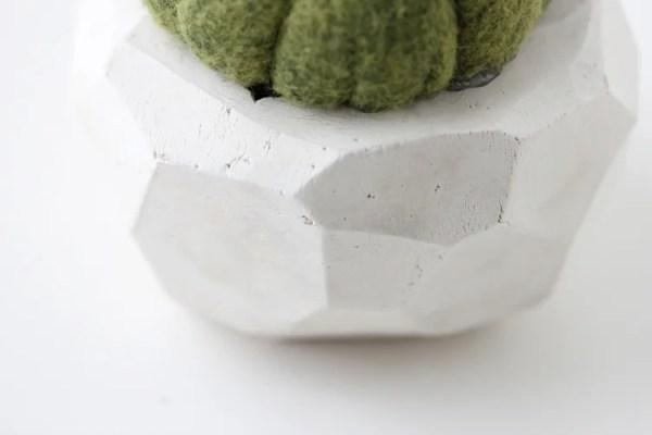 clay geometric pot