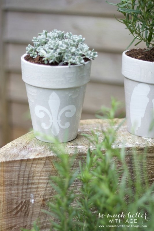 french glazed plant pots