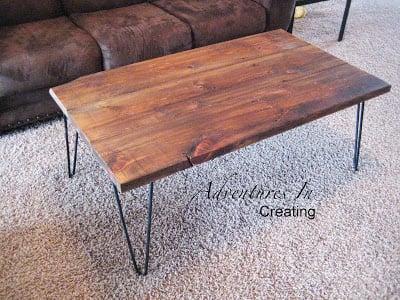 mid-century modern hairpin coffee table