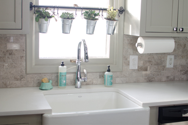 quartz countertops in remodeled kitchen, Ramblings from the Burbs on Remodelaholic