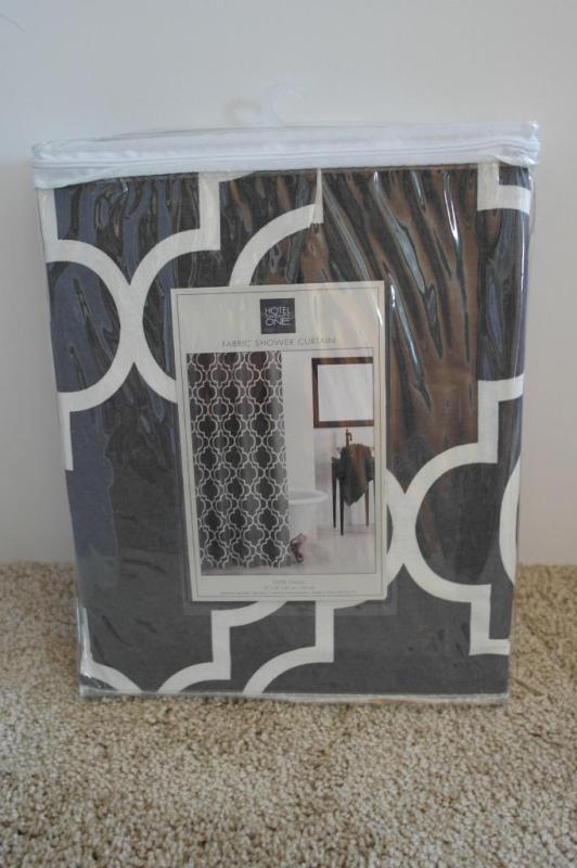 use a shower curtain to make a headboard cover, Sypsie Designs on Remodelaholic