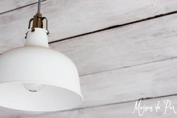 whitewashed plank ceiling, Maison de Pax on Remodelaholic
