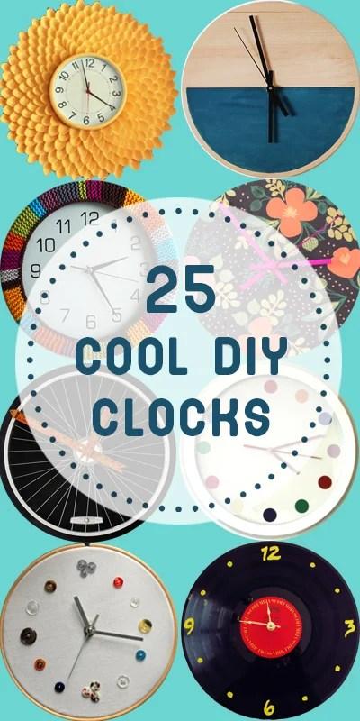 Diy Clock Part - 33: 25 Cool DIY Clocks | Remodelaholic.com