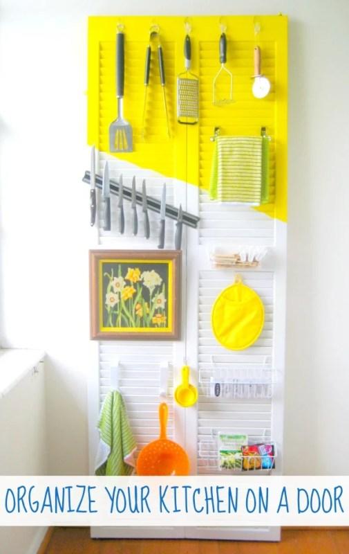 organize your kitchen on a door