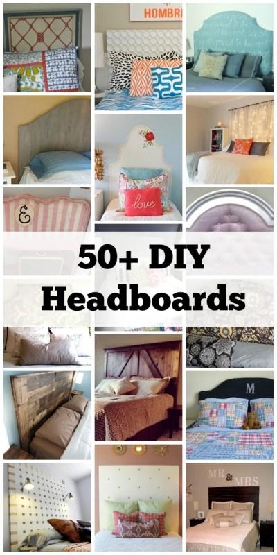 50 DIY Headboards via Remodelaholic