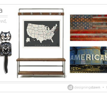 Americana: A Red, White, and Blue Mud Room Mood Board