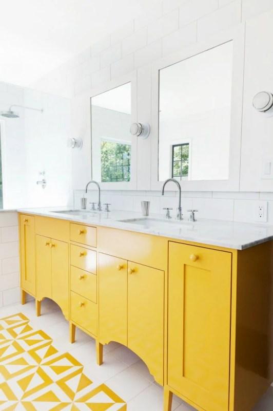 yellow bathroom inspiration