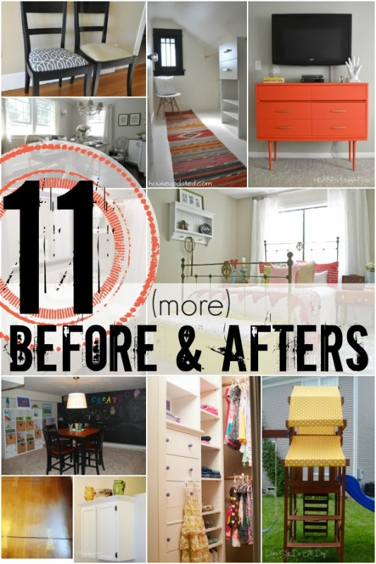 11 Awesome Before and Afters via Remodelaholic.com #beforeandafter #makeover
