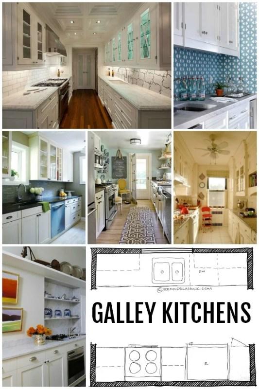 KITCHEN DESIGN: Galley Kitchen Layouts via Remodelaholic.com