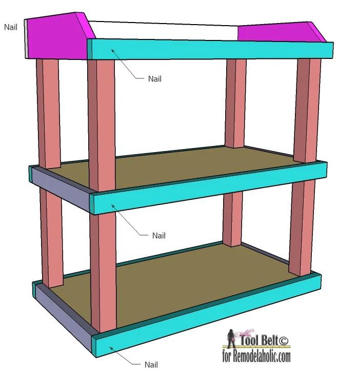Remodelaholic | DIY Small Open Shelf Building Plan