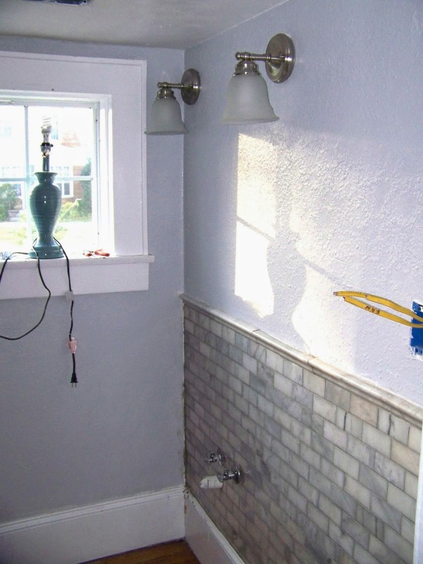 complete bathroom remodel 06, Seesaws and Sawhorses on Remodelaholic