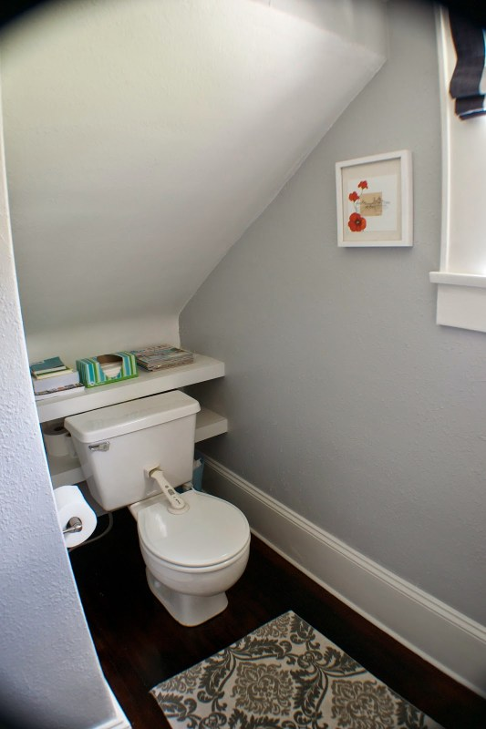 complete bathroom remodel 11, Seesaws and Sawhorses on Remodelaholic