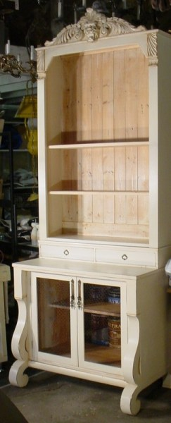 furniture makeover - dresser to tall bookcase