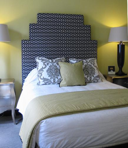 geometric stepped shoulder headboard via Attic Mag