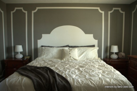 headboard-painted-on-wall-diy-home-decor-blogs