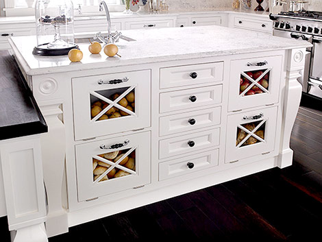 kitchen island with produce storage via DecorPad