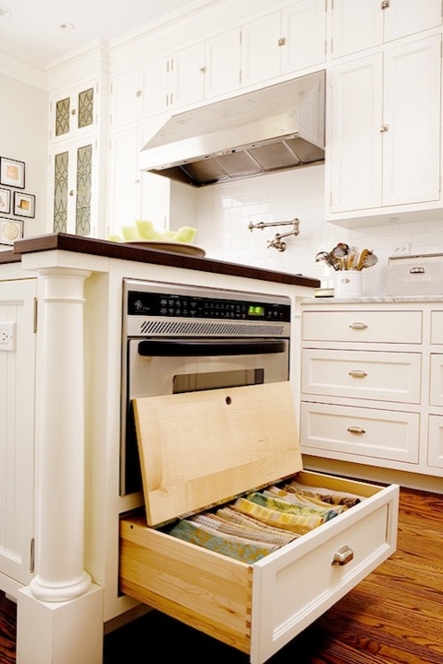 kitchen island with under oven storage via DecorPad