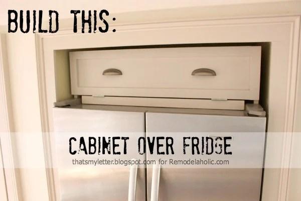 over fridge cabinet title