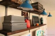 easy rustic wall shelves