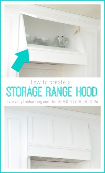 storage range hood tutorial